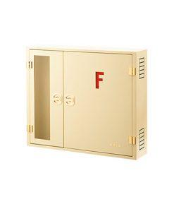 خرید جعبه آتش نشانی دوکابین روکار افقی-کرم