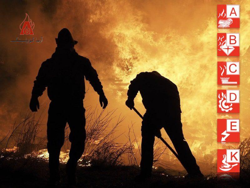انواع آتش سوزی و روشهای مهار آنها
